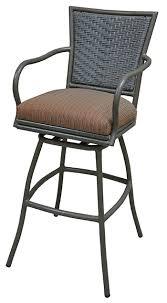 outdoor aluminum bar stools tobias designs outdoor aluminum bar stool erin with arms