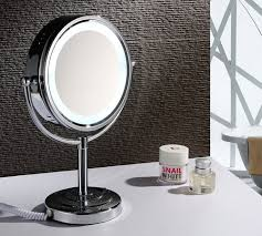 magnification mirror with light tabletop double sided led light makeup mirror 1003 magnifying