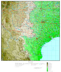 Austin Texas Map by Texas Elevation Map