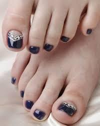 50 pretty toe nail art ideas navy blue nail polish navy blue