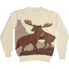 vintage fighting moose sweater american apparel polyvore