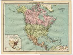 Usa Canada Map by 1905 Antique Map North America Population Usa Canada Mexico West
