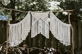 wedding backdrop pictures 3 macrame wedding backdrop mosshound designs