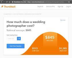average wedding photographer cost unrealistic expectations from thumbtack stephen cihanek