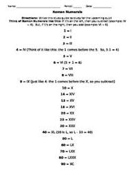 roman numeral worksheets with answers worksheets roman numerals