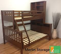 Timber Bunk Bed Merlin Single Trio Timber Bunk Bed And Storage Cupboards
