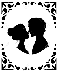 Free Silhouette Images Black And White Silhouettes Of Loving Couple Royalty Free Cliparts