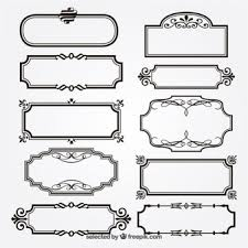 ornamental frames vector free