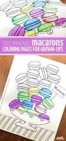 free printable macarons coloring page for grown ups