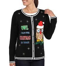 s owl cardigan sweater walmart sorts