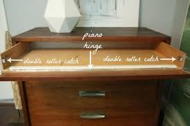 desk keyboard tray hinges add piano hinge to the top drawer of a chest of drawers decor