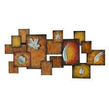 amazon com southern enterprises faux fossil leaves abstract wall