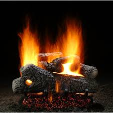 hargrove 24 inch classic oak vented propane gas log set with