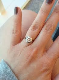 bezel ring my bezel moissanite ring pic heavy weddingbee