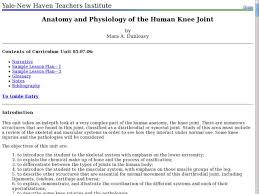Anatomy And Physiology Glossary Anatomy And Physiology Of The Human Knee Joint 9th 10th Grade