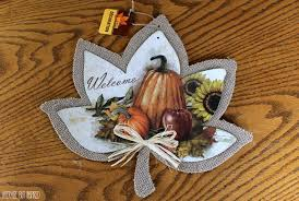 dollar store autumn leaf decor diy beautify