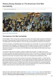 sample history essays premiumessays net history essay sample on the american civil war inev
