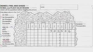decimal place value worksheets u2013 wallpapercraft