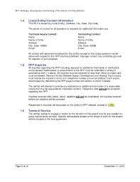 example rfp template for website design development hosting for local u2026