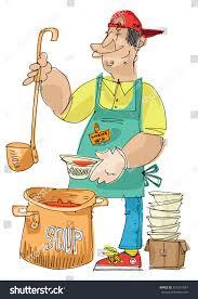 feeding homeless soup kitchen cartoon stock vector 357551954