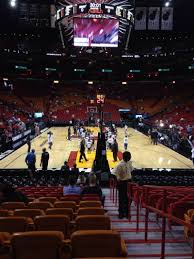 american airlines arena section 101 row 16 seat 1 miami heat