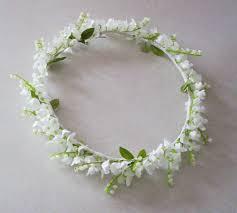 wedding flowers valley wedding flower crown of the valley caroline flower girl