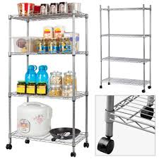 Bathroom Chrome Shelving by Multi Purpose 4 Tier Carbon Steel Wire Steel Shelving Unit