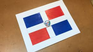 Domenican Flag Dominican Flag Drawing Dominican Republic Youtube