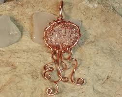 jellyfish necklace etsy