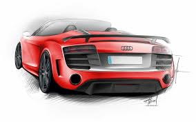 Audi R8 Gt Spyder - audi r8 gt spyder 2008 supercar sketches gallery