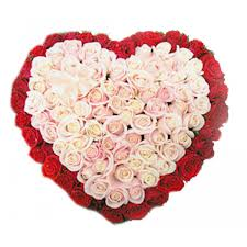 mylove a rich looking heart shape arrangement of 100 roses with