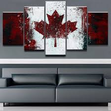 home decor canada home decor picture modular art wall posters framework 5 panel flag