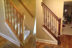Replacement Stair Banisters Cincinnati Stair Stair Railing Replacement Home Railing Inspirations