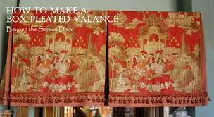 Board Mounted Valance Ideas Box Pleat Valance Tutorial How To Make A Board Mounted Pleated