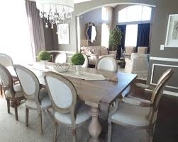 grey wooden dining table brown wooden floor with grey carpet grey grey wooden dining table brown wooden floor with grey carpet grey wall and blue curtain grey wooden dining chair with white cushion seat white ceiling and