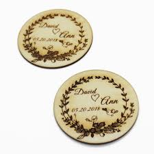 4 pairs personalized wedding wooden coasters drink bar coaster