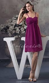 a linie herzausschnitt knielang chiffon brautjungfernkleid mit gestupft p551 bridesire lila brautjungfernkleider lila