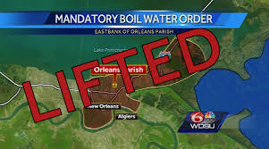 New Orleans Safety Map by Boil Water Advisory Lifted For East Bank Of New Orleans