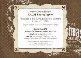 special offers kalos photography