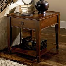 safavieh nolan mahogany end table one drawer with woven design