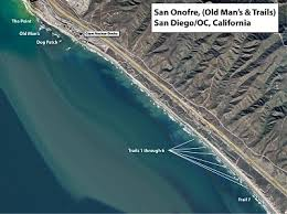 surf map san onofre state san diego orange county