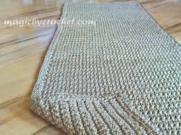 Blue Rug Runners For Hallways Long Hallway Runner Rug Handmade Jute Crochet Rug No 032