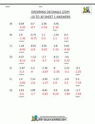 printable multiplication sheet 5th grade multiply decimals by 10