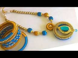 necklace designs making images Silk thread jewellery necklace designs silk thread necklace jpg