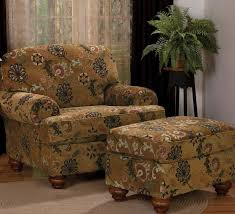 Fabric Armchairs And Ottomans Nice Overstuffed Wingback Chair With Furniture Living Room