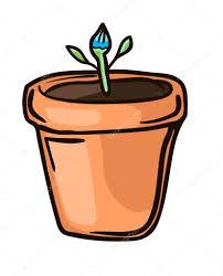 small flower in pot u2014 stock vector galieva0410 114816952