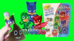 disney pj masks crayola mess free coloring powerpuff girls mojo