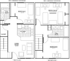 3 Bedroom 2 Bath Bungalow by Stunning Best Ideas About Bungalow Floor Plans Also 3 Bedroom Open