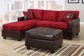 Modern Tufted Leather Sofa by Furniture Contemporary Red Vinyl Chaise Sofa With Tufted Seat