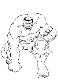 incredible hulk coloring pages printable